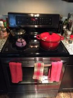 LG DUAL Convection & Conventionnel Electric Glasstop Stove W/ 5 Burners!