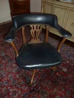 Antique Leather Desk Chair