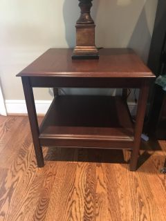 Pair of wood side tables.