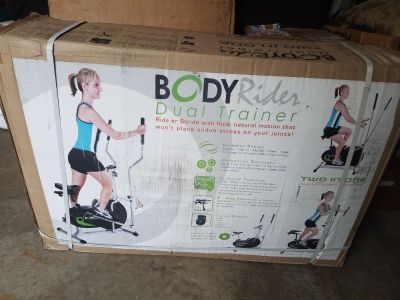Body rider exercise bike and elliptical dual trainer