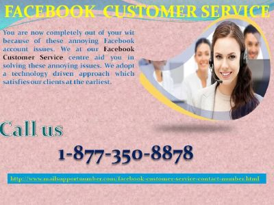 Make your account extremely attractive via Facebook customer service 1-877-350-8878