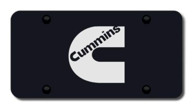 Find Chrysler Cummins Laser Etched Logo on Black License Plate Made in USA Genuine motorcycle in San Tan Valley, Arizona, US, for US $39.52