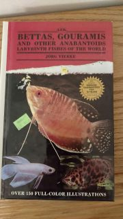 Bettas gouramis and other anabantoids book