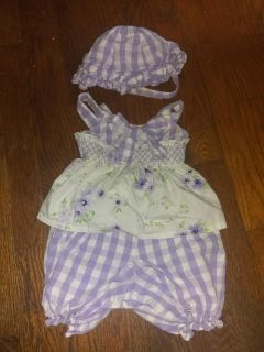 Girls 12m outfit w/ hat