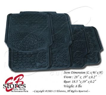 Buy Front and Rear Washable Rubber Floor Mat 4pc Style#B118 for Small Size Vehicle motorcycle in La Puente, California, United States, for US $29.95