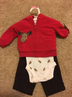 NWT Newborn moose outfit