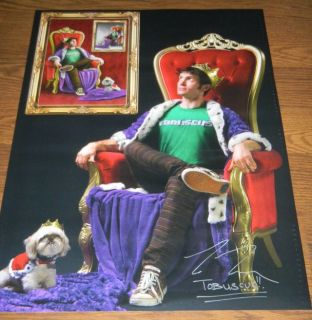 **SIGNED** TOBUSCUS King Buscus Lord of Ego Poster YouTube Sensation 18X24