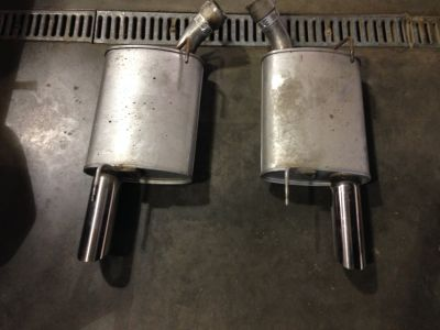 2008 GT500  chromed tipped mufflers