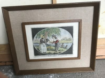 Antique Vintage Rare Detailed Fishing Angling Rod Reel Lithograph Print P&J Gally 1798 Holber London