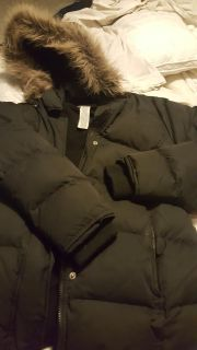 Old navy goose down Jacket with fur hood