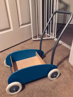 Ikea Mula Blue Toddle Wagon // Walker. [ Like-New Condition. ]