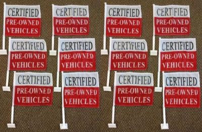 Find 12 Certified Pre owned Car Window Dealer Flags + POLES (twelve) FREE SHIPPING motorcycle in Castle Rock, Washington, United States, for US $59.95