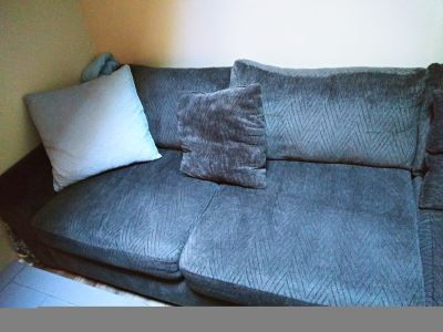 2pc Gray Sectional Couch