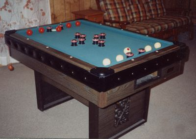 Frederick Willys Bumper Pool Table