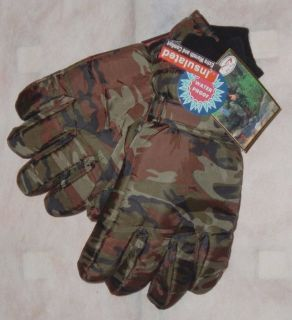 NEW NWT Artie Kuit CAMO Insulated Waterproof Extra Warm Hunting Ski Snow Gloves Mens