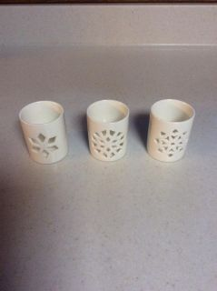 Snowflake votive candle holders