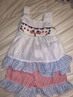 Two piece Patriotic outfit