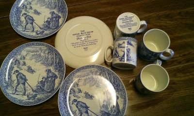 The spode blue room collection 4 plates 4 mugs can be seperated and sold for more individually online just dont have time