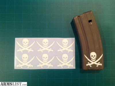 For Sale: Traditional Calico Jack AR 15 Mag Sticker 6 Pack