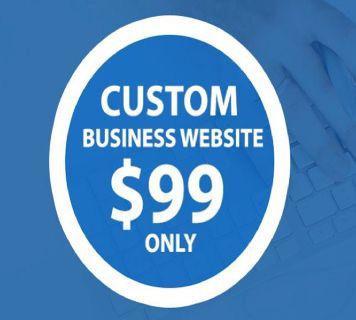HIGH QUALITY $99 CUSTOM MOBILE FRIENDLY WEBSITE DESIGN