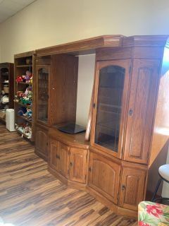 Large media cabinet, 3 pieces - Marcus Pointe Thrift Store