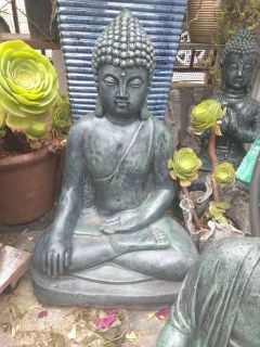 Large Sitting Buddha With An Aged Look