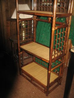 Rattan & Bamboo Display Shelf Unit  Pre-Owned Reduced to $80.00