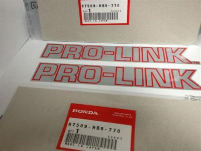 Purchase Pro Link Swingarm Decal Sticker Set OEM NOS Honda TRX250R TRX 250R 1988-1989 motorcycle in Maumee, Ohio, US, for US $17.99