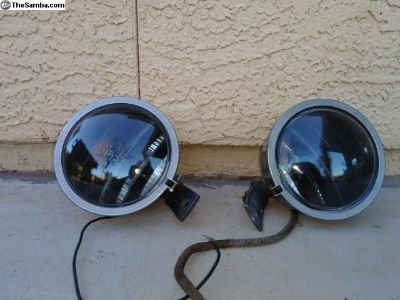 "Vintage 6"" Perlux 200T stainless fog lights."