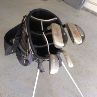Golf stand up bag w/clubs