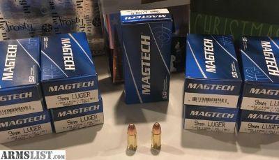 For Sale: 9mm Luger 115gr FMJ Ammo