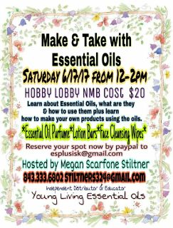 Make & Take with Essential Oils