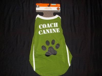 NWT Pet Dog Costume Football Coach Canine Tee Size M (50 lbs)
