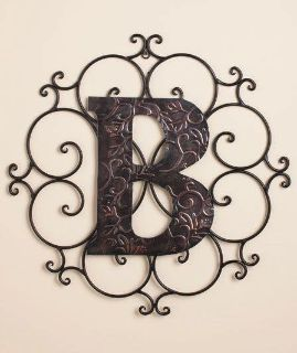 18 Metal Wall Initial B Antique Bronze