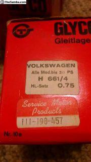 Nos German glyco 36 hp main bearings 111 198 457