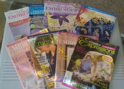 Embroidery books and embroidery buddy