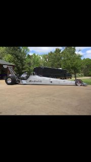 Complete R.E. Dragster with trailer