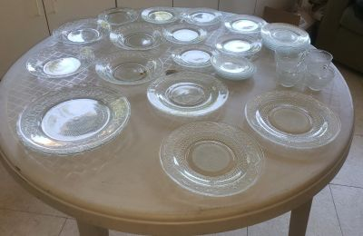 Antique dishes, plates and cups