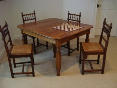 Antique Dining Chairs, Hand caned seats