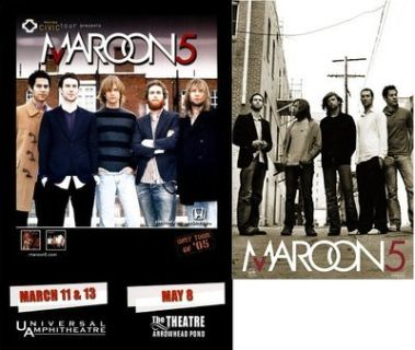 2 Maroon 5 Band / Movie Theatre Poster Lot