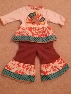 Doll turkey outfit
