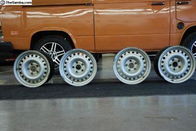 15x7 Steel Wheels GERMAN for Vanagon/Audi