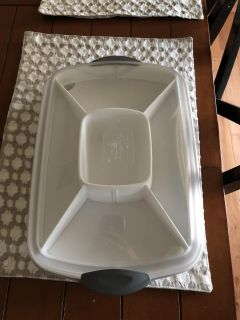 Pampered Chef Large Rectangle Cool and Serve Platter