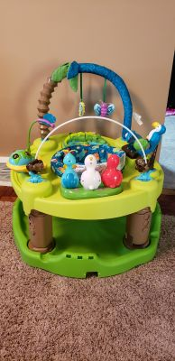 ExerSaucer baby toy table and bouncer