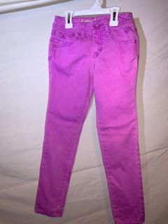 2 pairs of Justice colored jeans, size 8R, $5 each or both for $8