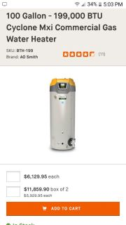 Industrial Smith water heater