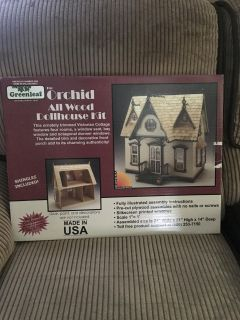 The Orchid All Wood Dollhouse Kit