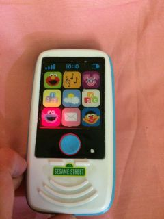 Toddler Sesame Street Phone. Talkes and lights up