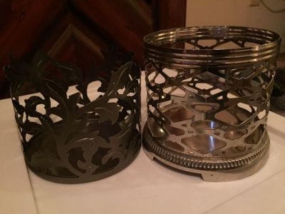Set of two candle holders from bath and bodyworks