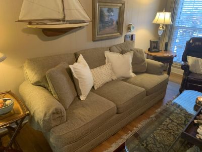 Sofa and large chair and ottoman by Hickory Chair